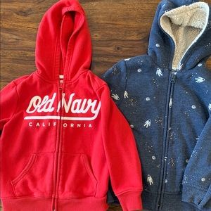 Boys - Lot of 2 Old Navy Hoodies - Size 4T